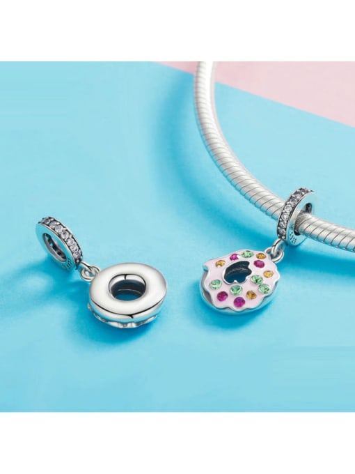 Maja 925 silver cute donut charm