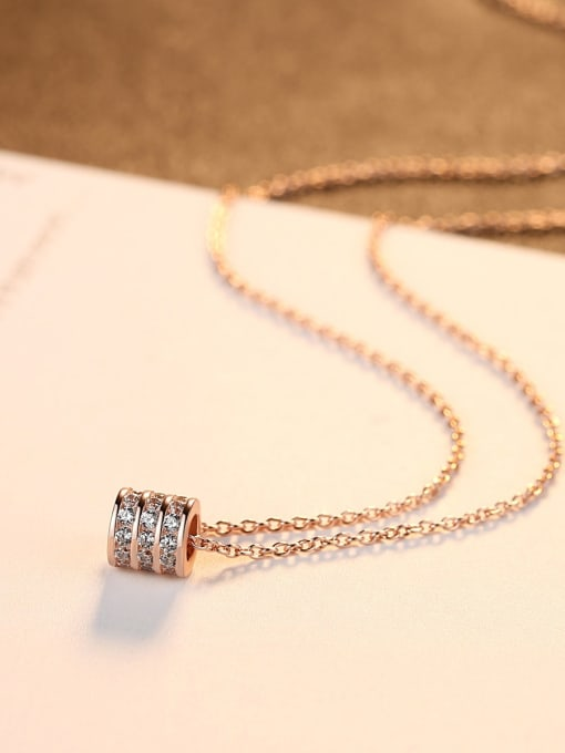 One Next 925 Sterling Silver With Cubic Zirconiad Simplistic Necklaces
