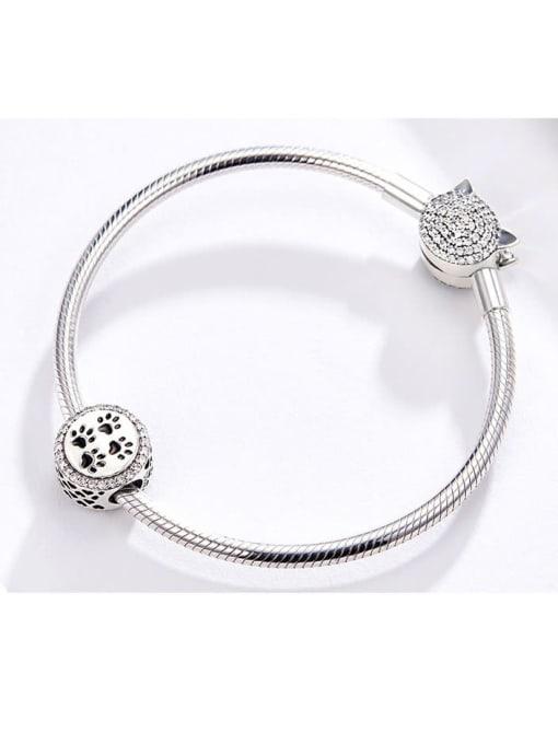 Maja 925 silver cute paw print charm