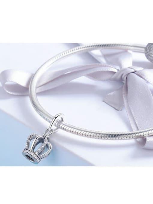 Maja 925 silver elegant crown charm