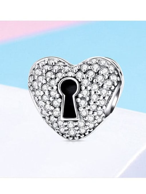 Maja 925 silver heart lock charm
