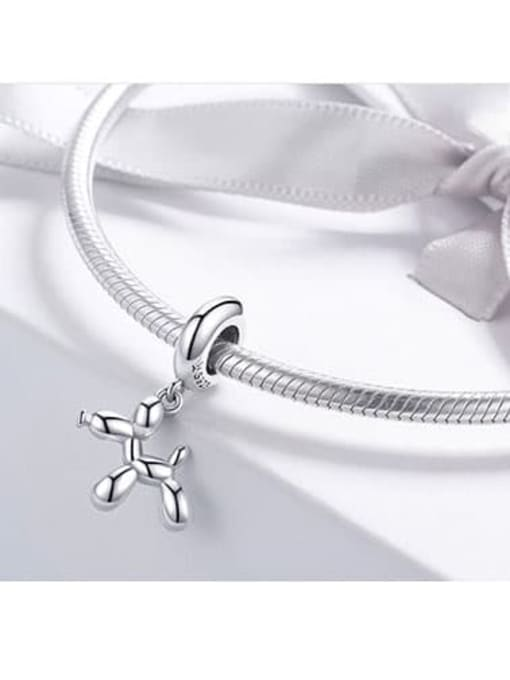 Maja 925 silver cute balloon dog charm