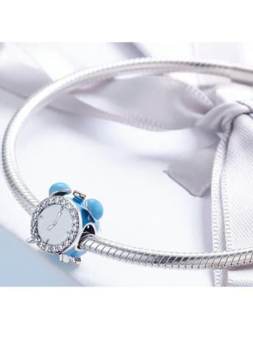Maja 925 silver cute alarm clock charm