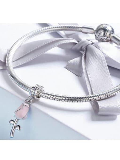 Maja 925 silver romantic rose charm