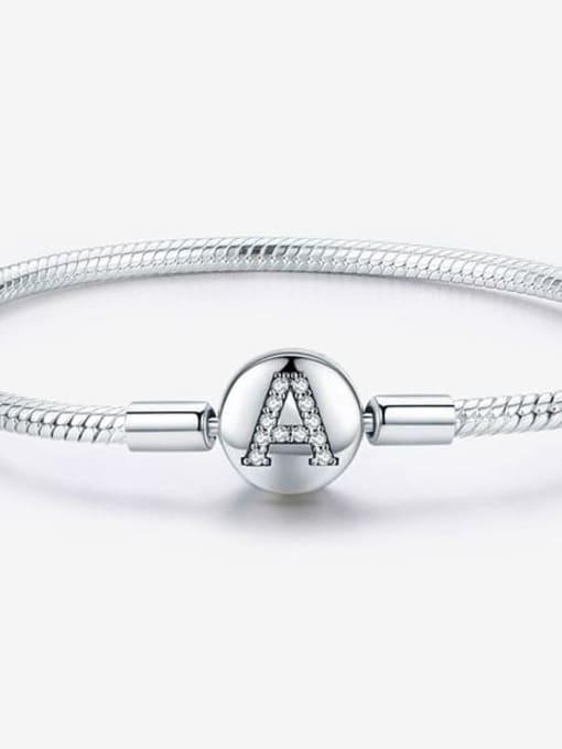 Maja 925 silver letter A element basic bracelet