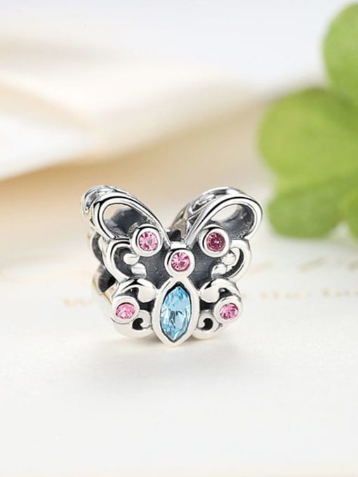 Maja 925 silver cute butterfly element accessories