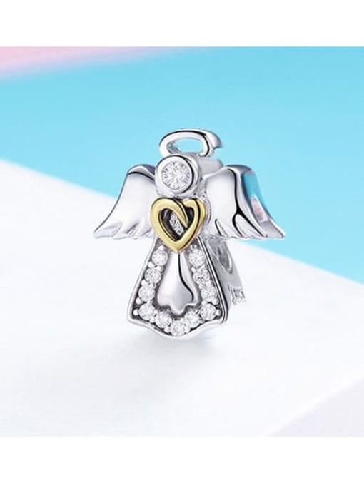 Maja 925 Silver Romantic Angel charm
