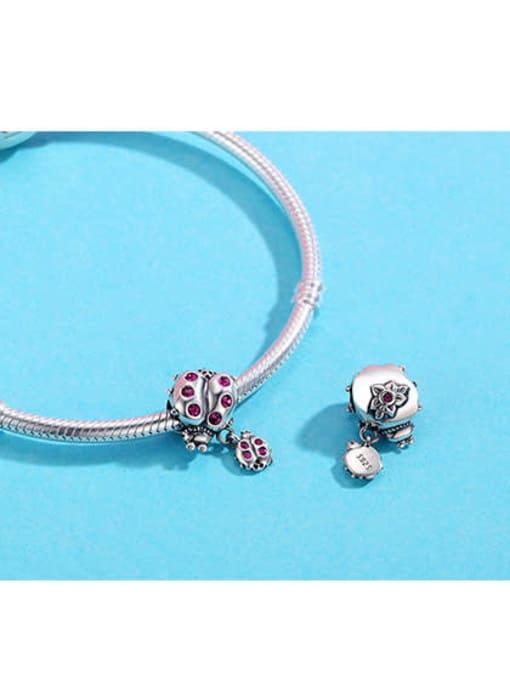 Maja 925 Silver Cute Beetle charm