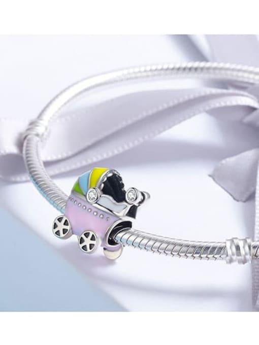 Maja 925 silver cute stroller charm