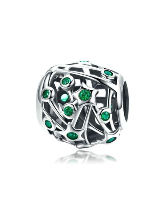 Maja 925 silver green star charm