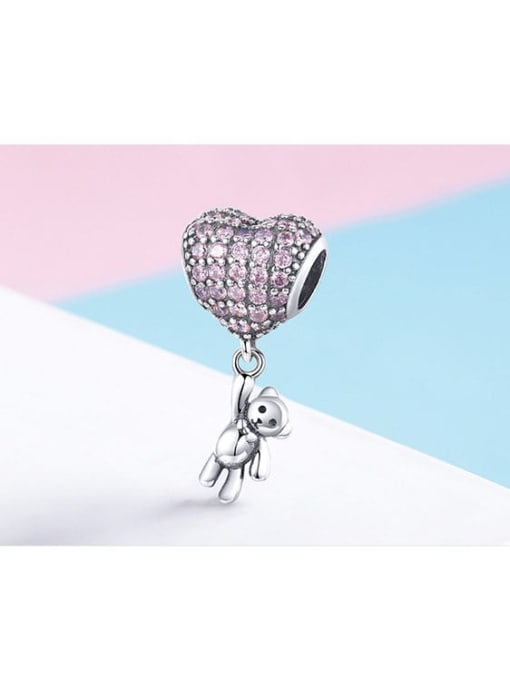 Maja 925 silver cute bear and balloon charm