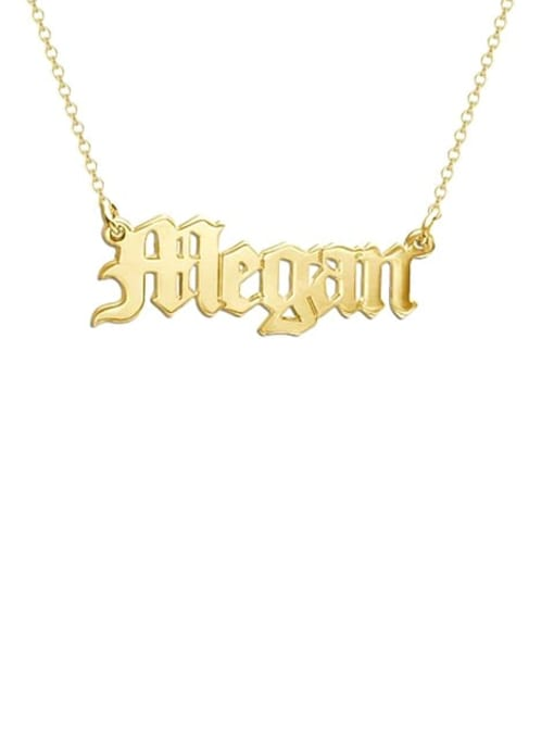 Lian Designs Megan style Personalized old english Name Necklace