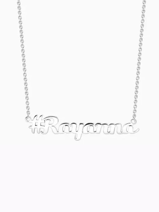 Lian Designs Customized Silver Hashtag Name Necklace