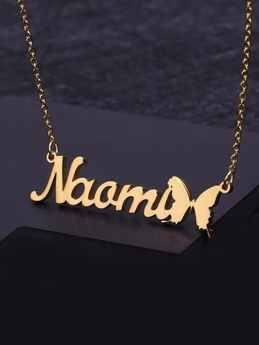 Lian Designs Butterfly Style Custom Name Necklace