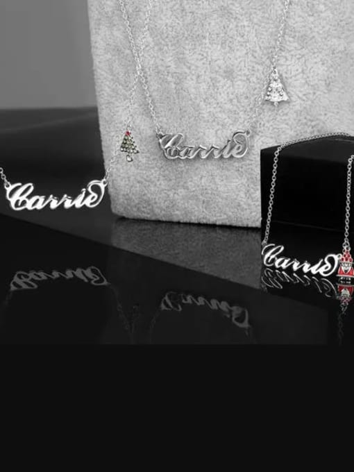 Lian Designs Customize Personalized Christmas Bell Name Necklace
