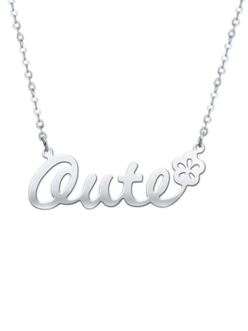 Lian Designs Personalized Classic Name Necklace with Flower