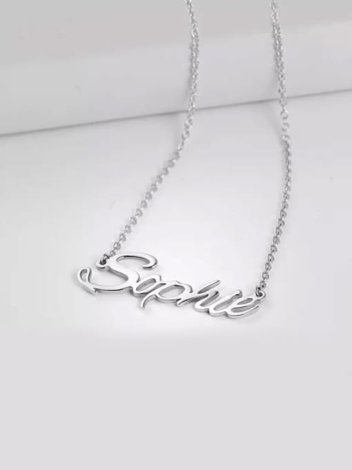 "Lian Designs ""Sophie"" Style Customized Personalized Name Necklace"