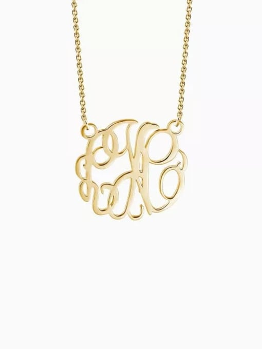 Lian Designs Customize Monogram Necklace Sterling Silver