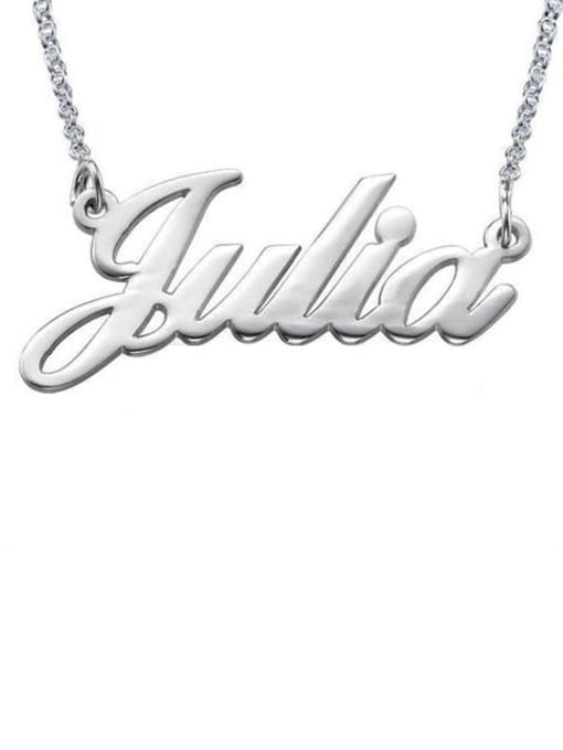 Lian Designs Custom Julia style Name Necklaces silver