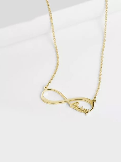 Lian Designs Customize  Silver Infinity Name Necklace