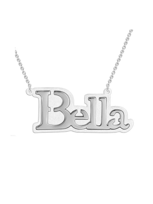 Lian Designs Bella style Silver Name Necklace