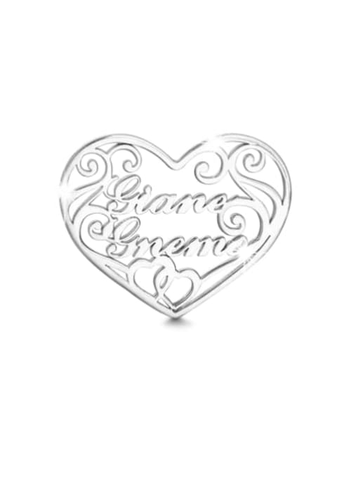 Lian Designs Customized silver Filigree Heart Two Name Necklace