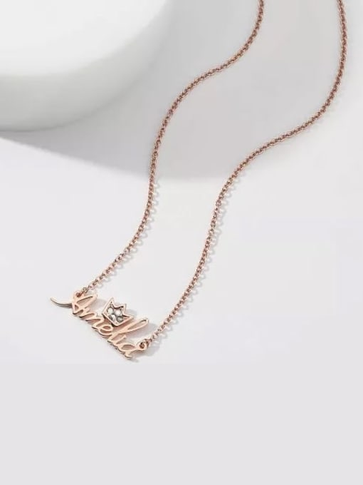 Lian Designs Personalized Crystal Name Necklace With Crow Silver