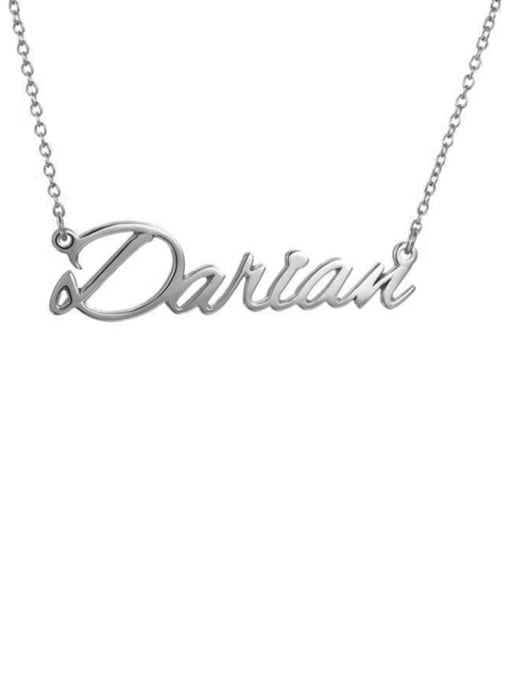 Lian Designs Custom Darian style  Name Necklace Silver