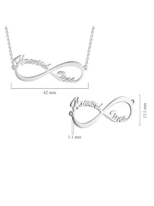 Lian Designs Customized Silver Infinity Name Necklace