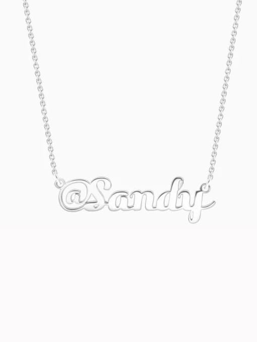 "Lian Designs Customize Silver ""@"" Sign Name Necklace"