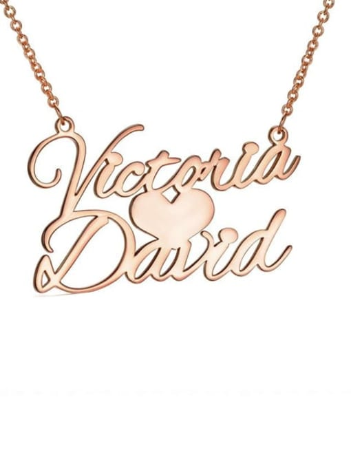 Lian Designs Custom Sweet Love Personalized Name Necklace silver