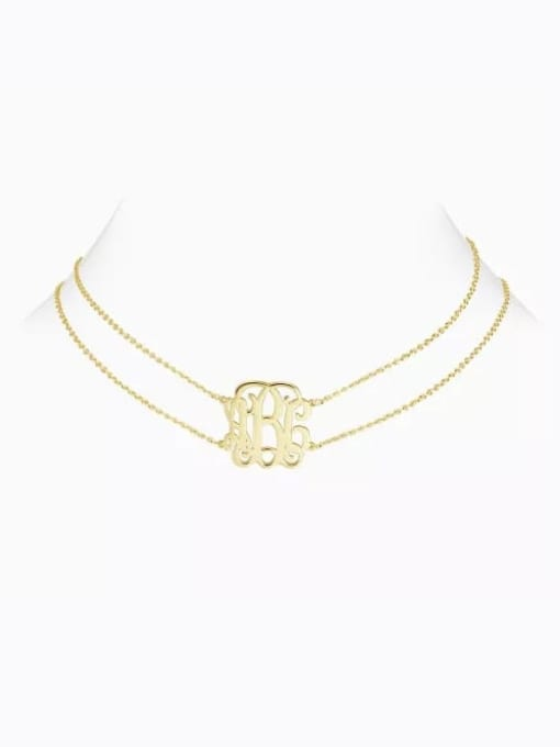 Lian Designs Customized Monogram Choker with Sterling Silver