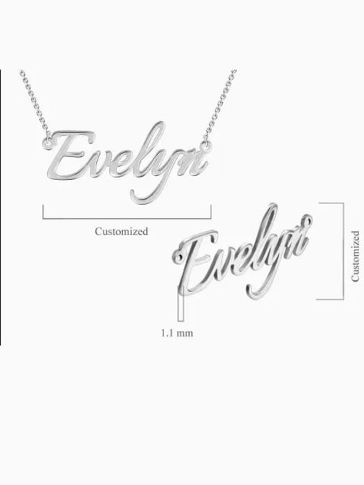 Lian Designs Customized  Silver Personalized Name Necklace