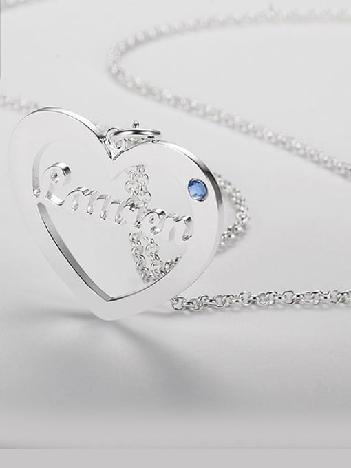 Lian Designs Heart Name Necklace With Birthstone