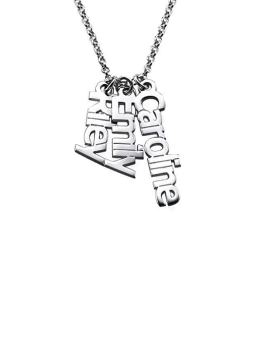 Lian Designs Personalized Vertical 3 Names Necklace