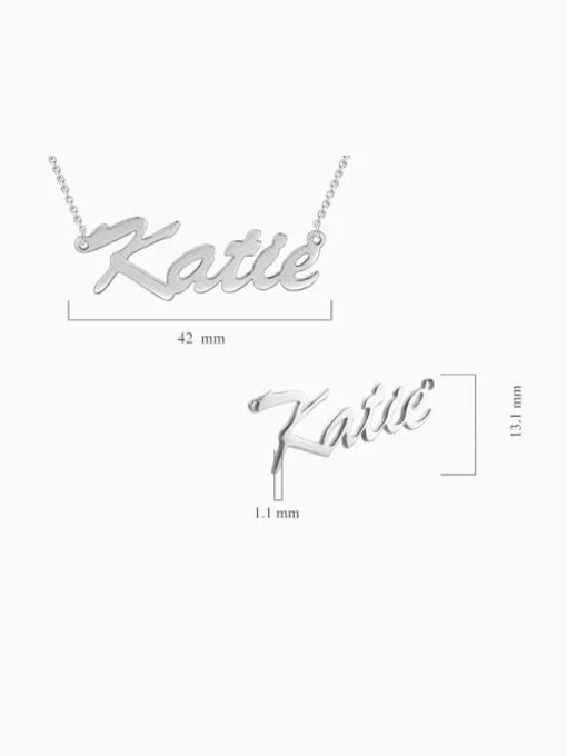 "Lian Designs Customize Classic Personalized ""Katie"" Name Necklace sterling siver"
