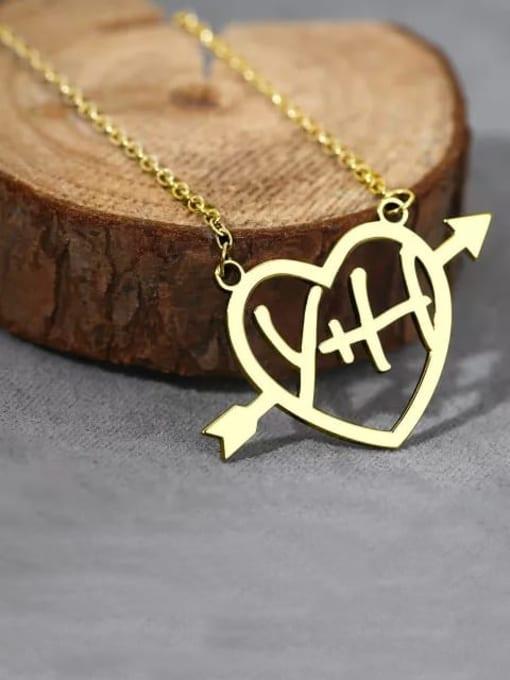 Lian Designs Customize  Silver Cupid's Arrow Name Necklace