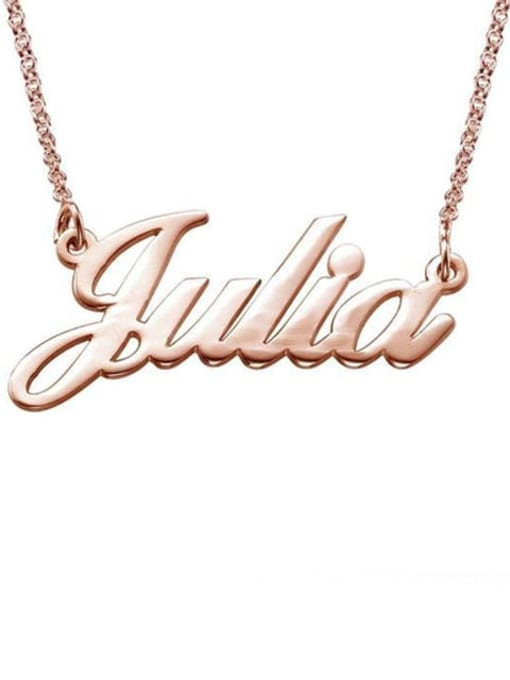 Lian Designs Custom Julia style Name Necklaces silver