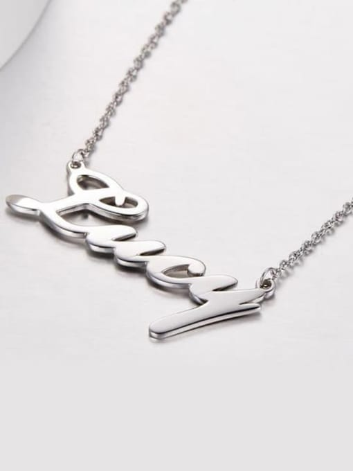 Lian Designs Silver Personalized Classic Name Necklace