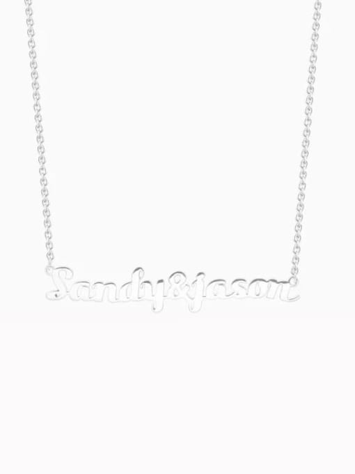 Lian Designs Customize 925 sterling Silver Couple Name Necklace