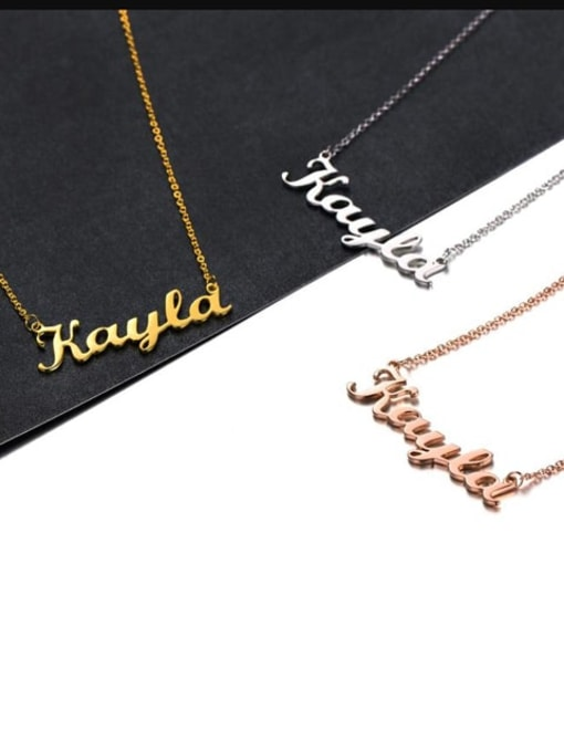Lian Designs custom Kayla style silver Personalized Name Necklace