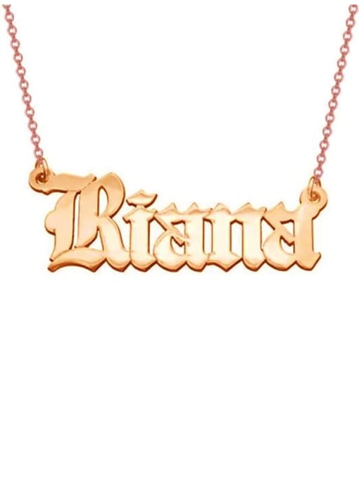 Lian Designs Personalized Old English Font Name Necklace