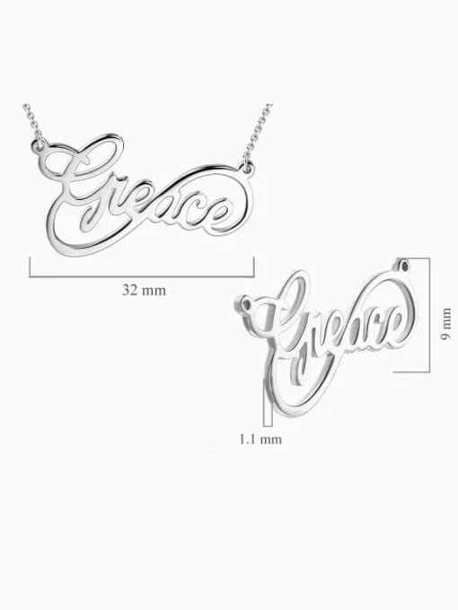 Lian Designs Customized Infinity Style Name Necklace