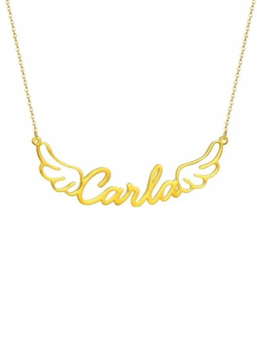 Lian Designs personalized Angel Wings Name Necklace