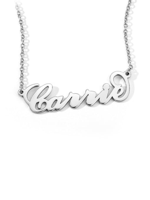 "Lian Designs Customize 925 Sterling Silver ""Carrie"" Style Personalized Name Necklace"