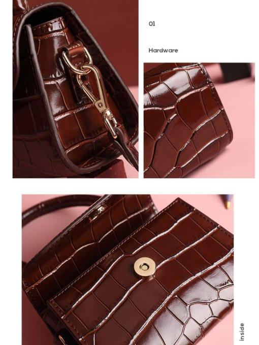 In Mix Multicolor_Crocodile Square Bag/handbag/shoulder bag