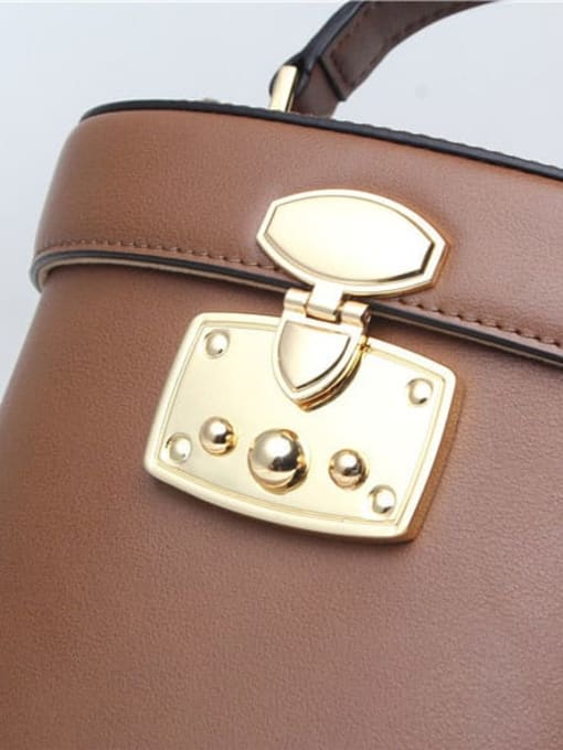 In Mix Fashion leather bucket bag