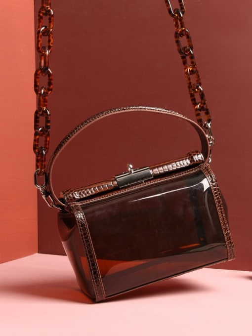 In Mix Transparent PVC+ Crocodile pattern jelly bag/CrossBody Bags
