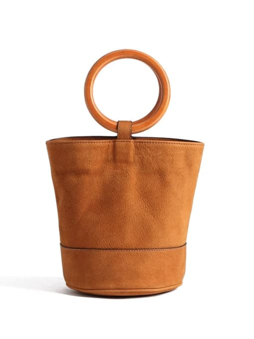 In Mix Mini-Potted Bag with  Metal/Wooden Handle
