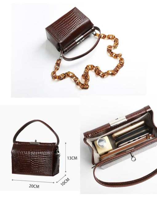 In Mix Crocodile embossed CrossBody Bags